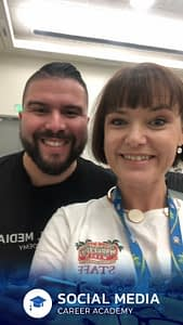 Social Media Marketing World 2018 - Serena Ryan with Carlos Gil