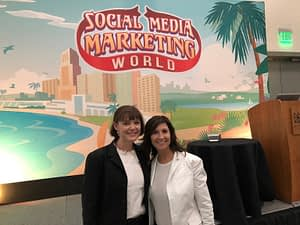 Social Media Marketing World 2018 - Serena Ryan and Connie Albers