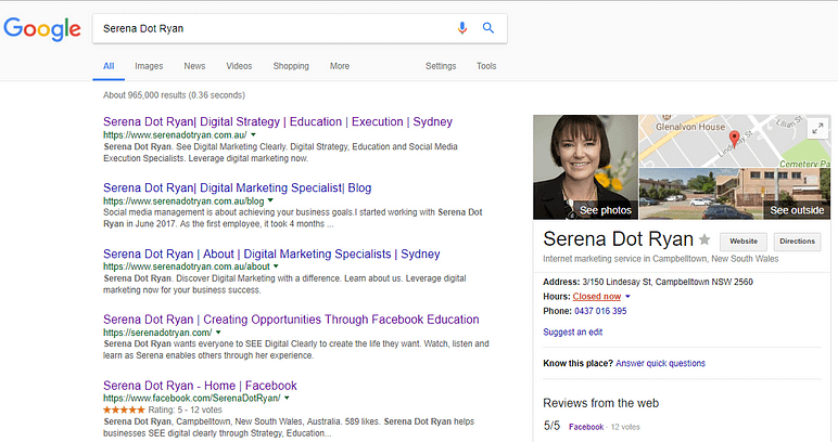 Serena Dot Ryan - Learn SEO