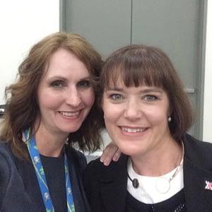 Social Media Marketing World 2018 - Serena Ryan with Lisa Jenkins